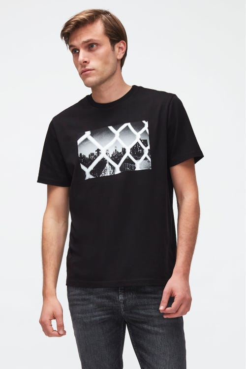 GRAPHIC TEE JERSEY VIEW  BLACK