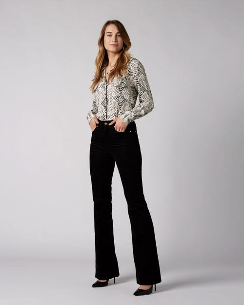 7 For All Mankind - Lisha Corduroy Black