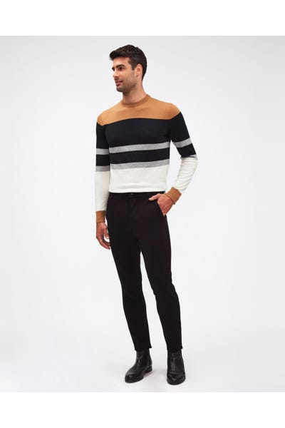 TRAVEL CHINO DOUBLE KNIT BLACK