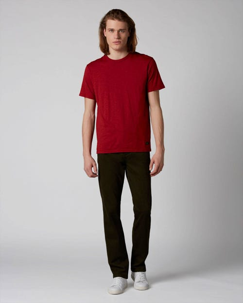 7 For All Mankind - Slimmy Chino Luxe Performance Sateen Forest Night Dark Army