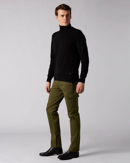 7 For All Mankind - Slimmy Chino Cargo Compact Twill Hunter