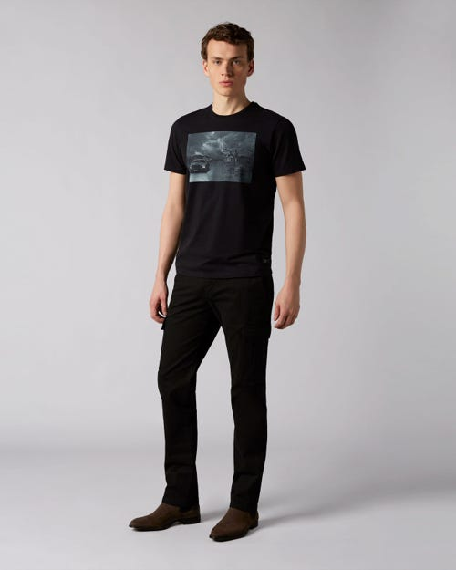 7 For All Mankind - Slimmy Chino Cargo Compact Twill Black