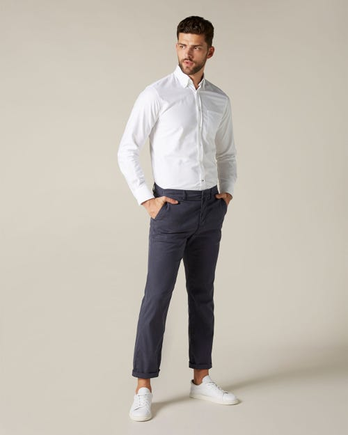 SLIMMY CHINO COTTON TENCELL NAVY