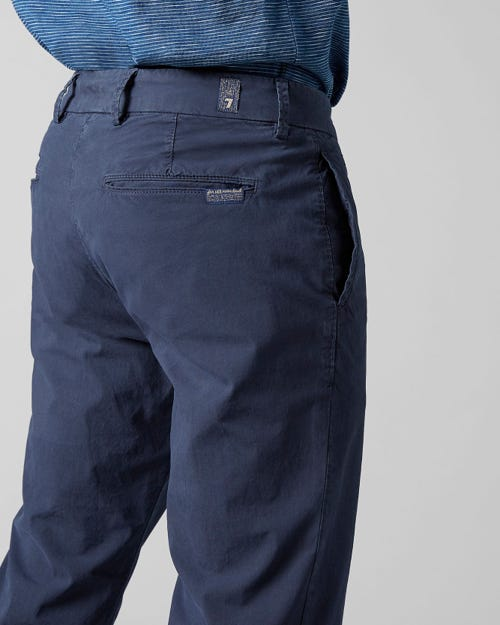 EXTRA SLIM CHINO ULTRA LIGHT WEIGHT COLORS NAVY BLUE WITH PIPING