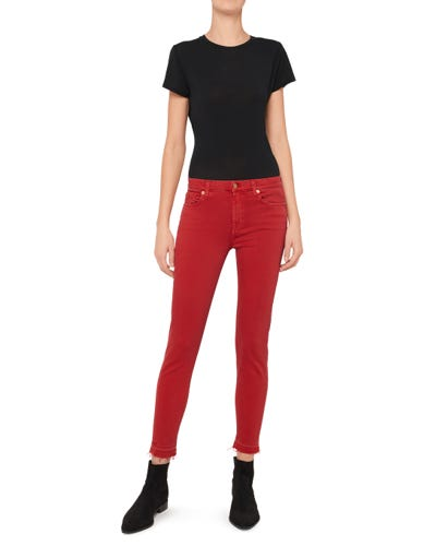 THE SKINNY CROP SLIM ILLUSION COLOR FLAME