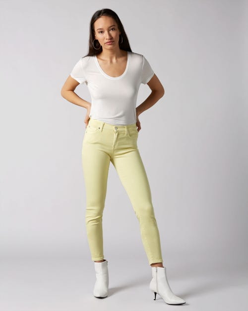 7 For All Mankind - The Skinny Crop Colored Slim Illusion Pineapple