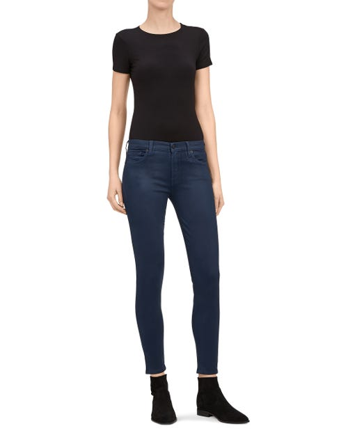 THE SKINNY CROP COATED SATEEN TWILIGHT