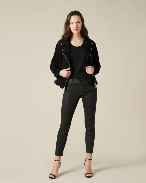 ROXANNE ANKLE COATED SLIM ILLUSION BLACK