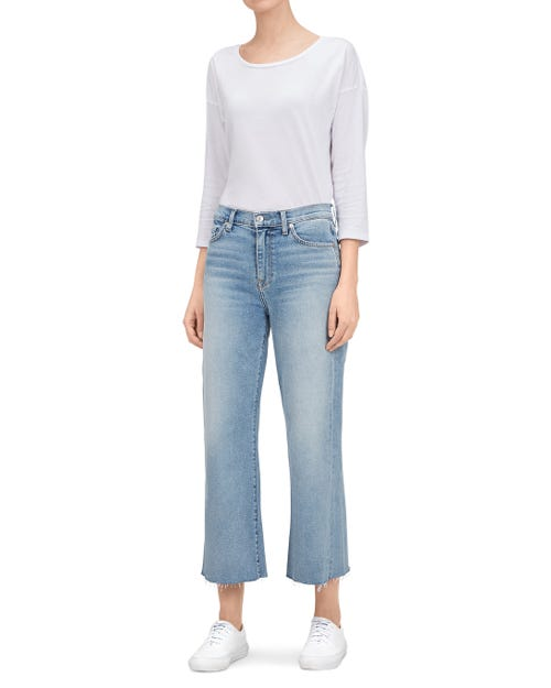 7 for all Mankind - CROPPED TROUSER JEAN SOFT VINTAGE FLORA