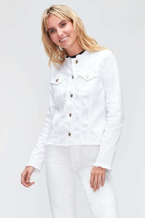 DENIM JACKET SLIM ILLUSION PURE WHITE