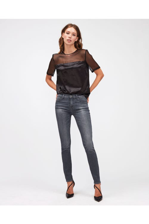 THE SKINNY SLIM ILLUSION BELIEVE WITH EMBELLISHED SQUIGGLE