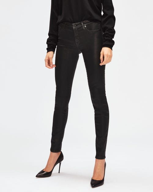 THE SKINNY COATED SLIM ILLUSION BLACK