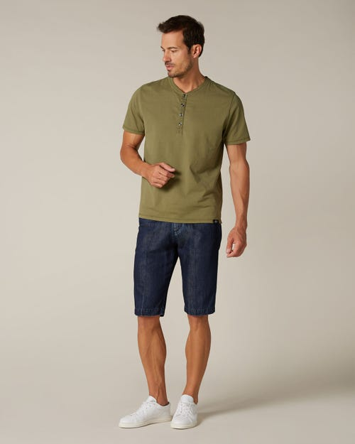 SLIMMY CHINO SHORTS COTTON LINEN DARK BLUE