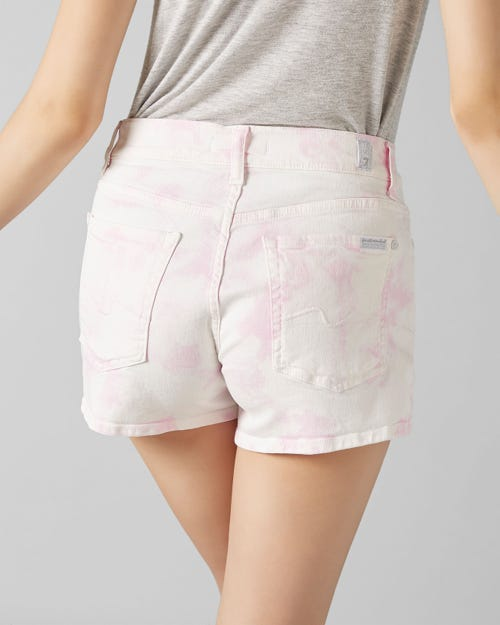 7 For All Mankind - Mid Rise Shorts Cloudy Cotton Candy