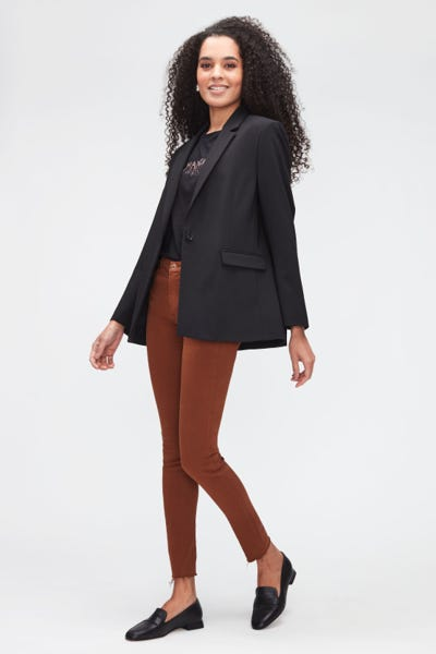 HW SKINNY COLORED SLIM ILLUSION WITH RAW CUT CINNAMON