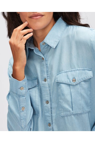 MARIE SHIRT DEL MAR WITH EMBROIDERED MESSAGE