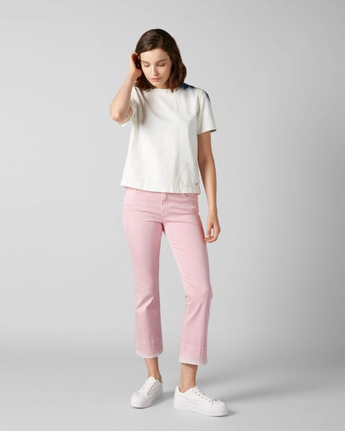 CROPPED BOOT UNROLLED COLORED SLIM ILLUSION COTTON CANDY