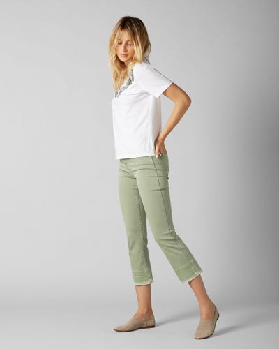 7 for all Mankind - CROPPED BOOT UNROLLED COLORED SLIM ILLUSION JADE